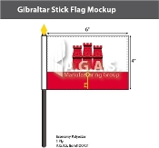 Gibraltar Stick Flags 4x6 inch