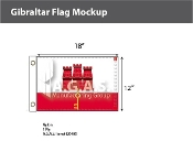 Gibraltar Flags 12x18 inch