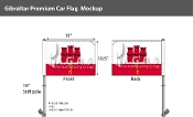 Gibraltar Car Flags 10.5x15 inch Premium