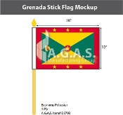 Grenada Stick Flags 12x18 inch