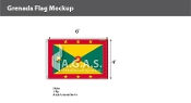 Grenada Flags 4x6 foot