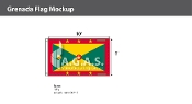 Grenada Flags 6x10 foot
