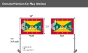 Grenada Car Flags 10.5x15 inch Premium