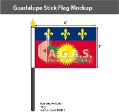 Guadeloupe Stick Flags 4x6 inch