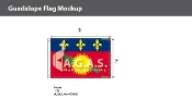 Guadeloupe Flags 2x3 foot