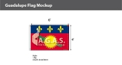 Guadeloupe Flags 4x6 foot