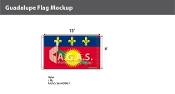 Guadeloupe Flags 6x10 foot