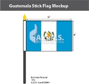 Guatemala Stick Flags 4x6 inch (with seal)