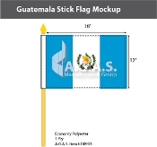 Guatemala Stick Flags 12x18 inch (with seal)