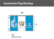 Guatemala Flags 12x18 inch (with seal)