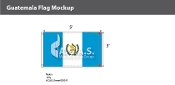 Guatemala Flags 3x5 foot (with seal)