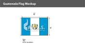 Guatemala Flags 4x6 foot (with seal)