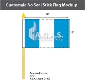 Guatemala Stick Flags 12x18 inch (no seal)