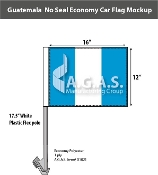 Guatemala Car Flags 12x16 inch Economy (no seal)