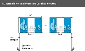 Guatemala Car Flags 10.5x15 inch Premium (no seal)