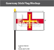 Guernsey Stick Flags 4x6 inch