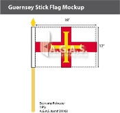 Guernsey Stick Flags 12x18 inch