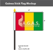 Guinea Stick Flags 4x6 inch