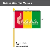 Guinea Stick Flags 12x18 inch