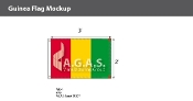 Guinea Flags 2x3 foot
