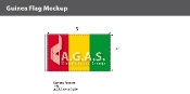 Guinea Flags 3x5 foot