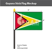 Guyana Stick Flags 4x6 inch