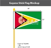 Guyana Stick Flags 12x18 inch