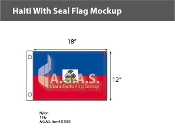 Haiti Flags 12x18 inch (with seal)