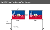 Haiti Car Flags 10.5x15 inch Premium (with seal)