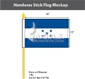 Honduras Stick Flags 12x18 inch