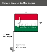 Hungary Car Flags 12x16 inch Economy