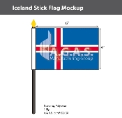 Iceland Stick Flags 4x6 inch