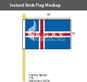 Iceland Stick Flags 12x18 inch