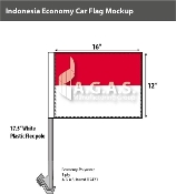Indonesia Car Flags 12x16 inch Economy