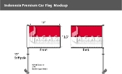 Indonesia Car Flags 10.5x15 inch Premium