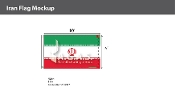 Iran Flags 6x10 foot