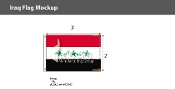 Iraq Flags 2x3 foot (2004 Design)