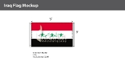 Iraq Flags 3x5 foot (2004 Design)