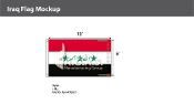 Iraq Flags 6x10 foot (2004 Design)