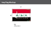 Iraq Flags 8x12 foot (2004 Design)