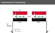 Iraq Car Flags 10.5x15 inch Premium (2004 Design)