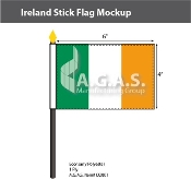 Ireland Stick Flags 4x6 inch