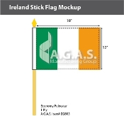 Ireland Stick Flags 12x18 inch