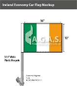 Ireland Car Flags 12x16 inch Economy