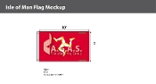 Isle of Man Flags 6x10 foot