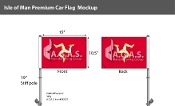 Isle of Man Car Flags 10.5x15 inch Premium