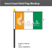 Ivory Coast Stick Flags 4x6 inch