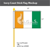 Ivory Coast Stick Flags 12x18 inch