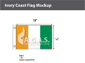 Ivory Coast Flags 12x18 inch