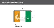 Ivory Coast Flags 2x3 foot